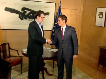 Rajoy y Rivera se reúnen en el Congreso