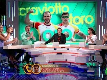 "Cristian Toro celebra con Zapeando su oro en los JJOO: ""He cumplido mi sueño"""