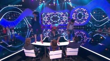 Álex y Sergio Arce bailan con tacones de 11 centímetros en Eso lo hago yo