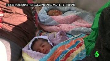 Rescatadas 6.500 personas, entre ellas dos bebés de cinco días, en sólo 20 horas de operaciones en el Mediterráneo