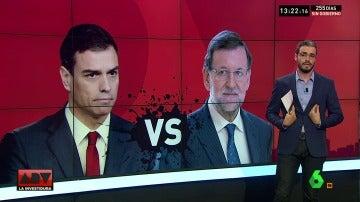 """Del """"no"""" de Sánchez al """"tranquilícese"""" de Rajoy, duro cruce de reproches en el Congreso"""
