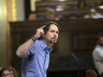 """Pablo Iglesias: """"Somos su antagonista señor Rajoy, y orgullosos estamos de ello"""""""