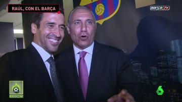 Raúl, presente en un evento del Barça en Nueva York