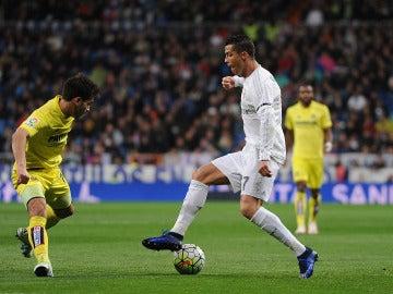 Cristiano Ronaldo, en un partido contra el Villarreal