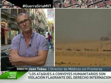 """Joan Tobau: """"Los ataques a convoyes humanitarios son una violación flagrante del derecho internacional"""""""
