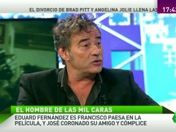 """Eduard Fernández: """"Hay parte de ficción, de mentira en mentira contamos una gran verdad en la película de Paesa"""""""