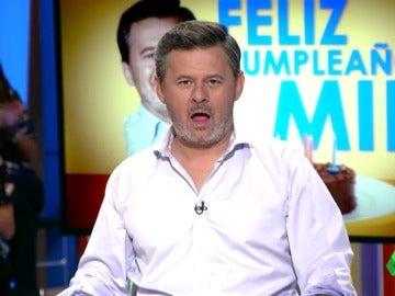 """Así reacciona Miki Nadal tras la sorpresa de Zapeando en su cumpleaños: """"¡Cutres!"""""""