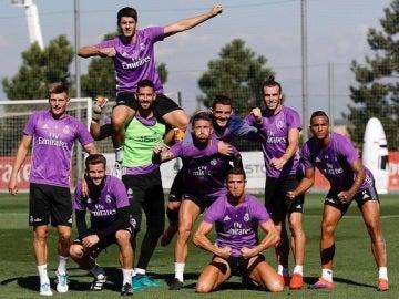 Cristiano Ronaldo y sus compañeros del Real Madrid, posan como superhéroes