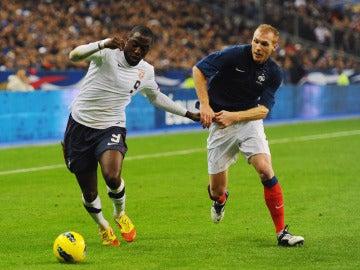 Jérémy Mathieu, en un partido de la selección francesa