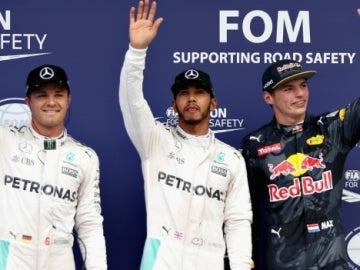 Rosberg, Hamilton y Verstappen en Malasia