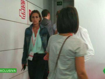 La imágenes exclusivas del momento que ha provocado la discordia entre militantes críticos y afines a Sánchez