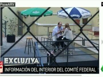 Susana Díaz se reúne con Miquel Iceta antes del Comité Federal