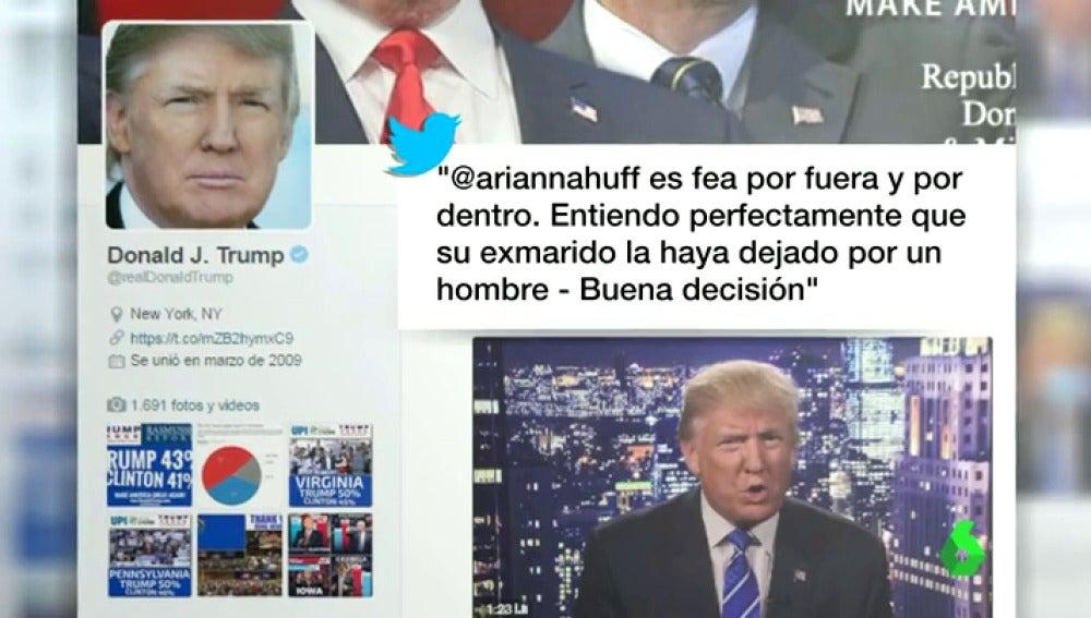 La cuenta de Twitter del candidato republicano está repleta de comentarios machistas y frases completamente desafortunadas.
