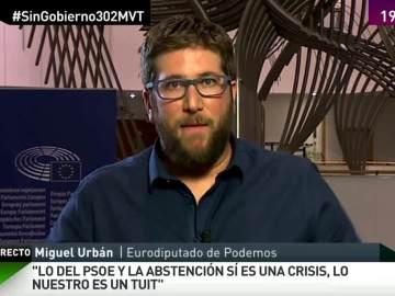 """Miguel Urbán: """"Lo del PSOE y la abstención sí que es una crisis, lo nuestro es un tuit"""""""