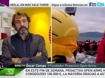 """Óscar Camps: """"Reclamamos una operación de salvamento; no hay necesidad de que la gente muera abandonada en el mar"""""""