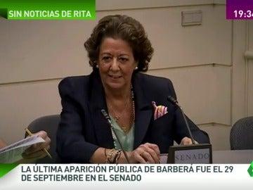 ¿Dónde está Rita Barberá?