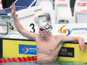 Mark Horton, durante una prueba de natación