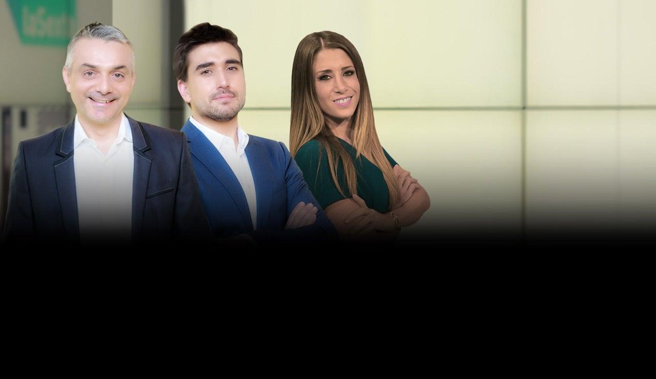 Lluís Obiols, Adrián Cordero e Isabel Zubiaurre en laSexta Meteo