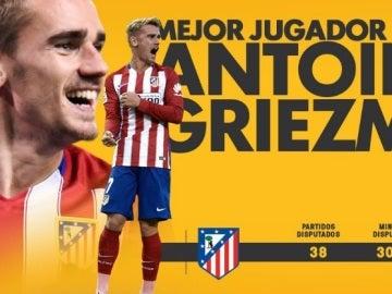 Griezmann, mejor jugador de la pasada temporada