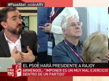 """Ignacio Escolar: """"La única opción del PSOE ha sido sacar la banderita, rendirse a Rajoy sin condiciones"""""""