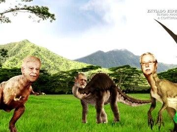 "Dani Mateo: ""Felipesaurius Rex, Ibarrocus, Corcueradáctilo... ¡bienvenidos al Jurassic Park Socialista!"""