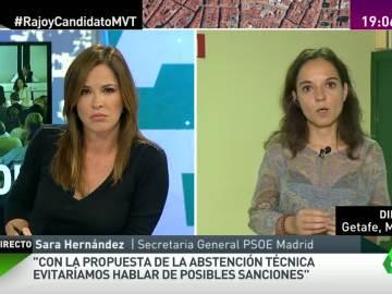 """Sara Hernández: """"Pedro Sánchez ira a la sesión de investidura porque es diputado"""""""