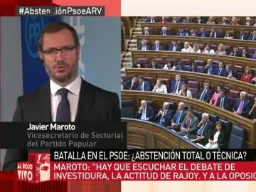 """Maroto: """"Si hubiese un gobierno de PSOE y Unidos Podemos, ¿qué les parecería que rodeásemos el Congreso?"""""""