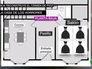 Así ha sido la reconstrucción del crimen de Patrick Nogueira en el chalet de Pioz