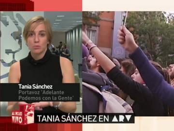 """Tania Sánchez: """"No deberíamos sorprendernos porque la gente quiera protestar"""""""