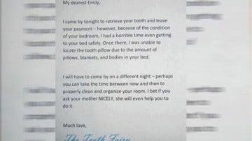 Carta viral de una madre simulando ser el Ratoncito Pérez