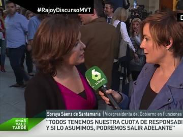 """Sáenz de Santamaría niega estar nerviosa ante la formación de nuevo gobierno: """"Suelo ser bastante serena"""""""