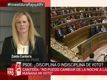 """Zaida Cantera: """"No puedo abstenerme ante los responsables de mi calvario"""""""