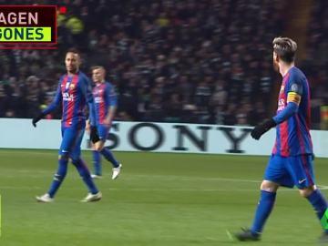 Messi calmó la actitud de Suárez y Neymar