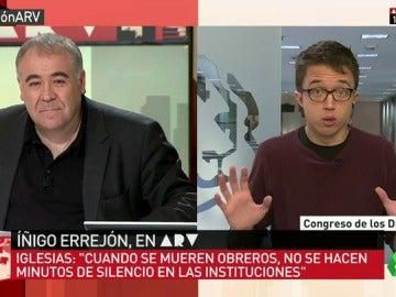 """Íñigo Errejón: """"En España hay mucho dolor causado por políticas concretas y no se guardan minutos de silencio"""""""