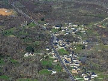 Vista aérea de Otero de Sanabria, Zamora