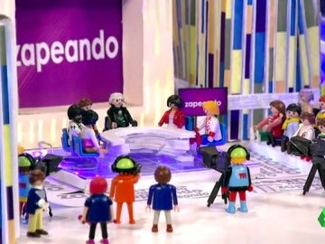 El primer regalo navideño para Zapeando: La versión Playmobil del programa