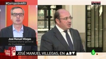 """José Manuel Villegas: """"El presidente de Murcia se comprometió a dimitir si era imputado y esperamos que cumpla"""""""