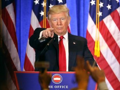 Donald Trump, durante su rueda de prensa