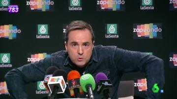 El humorista Raúl Pérez, en Zapeando