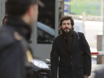 Oleguer Pujol antes de llegar a la Audiencia Nacional