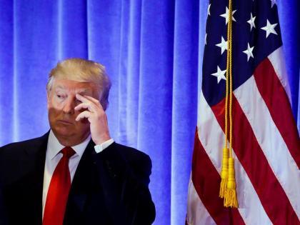 Donald Trump, durante su primera rueda de prensa como presidente