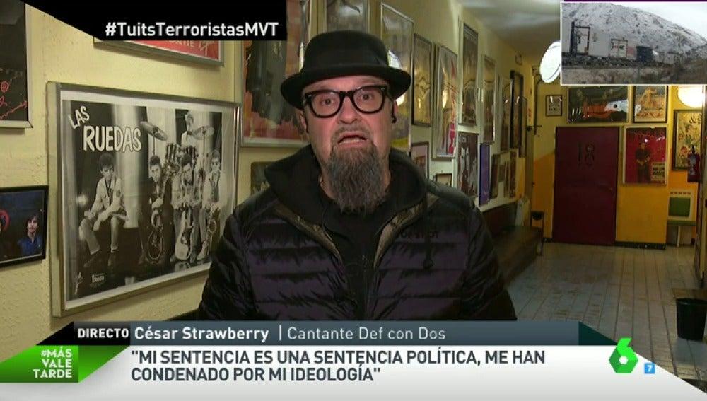 """Frame 356.444693 de: César Strawberry: """"Mi sentencia es una sentencia política. Me han condenado por mi ideología"""""""