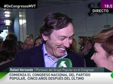 """Frame 44.481125 de: Rafael Hernando: """"Me preocupa Errejón, creo que seguirá en el partido pero los comunistas son como son"""""""