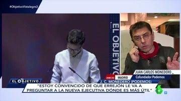 """Frame 113.907824 de: Juan Carlos Monedero: """"Estoy convencido de que Errejón le va a preguntar a la nueva ejecutiva dónde es más útil"""""""