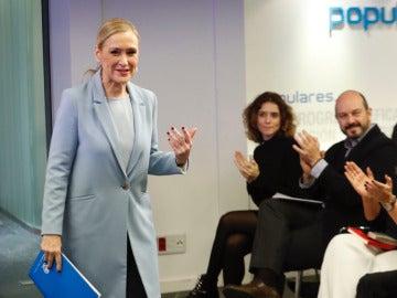 Cifuentes a la llegada de la reunión de la gestora del PP de Madrid