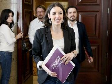 Irene Montero, portavoz de Unidos Podemos en el Congreso