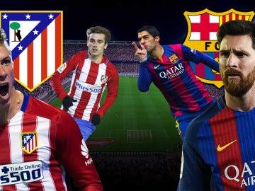 Atlético de Madrid - Barcelona, partido de alto voltaje en el Vicente Calderón