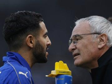 Mahrez y Ranieri