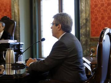 Francesc Homs, durante el juicio por el 9N