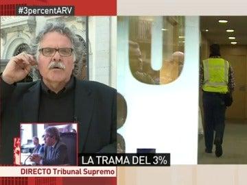 """Frame 33.730935 de: Joan Tardà: """"Si no se descubrió antes lo de Pujol fue porque había intereses de partidos españoles"""""""